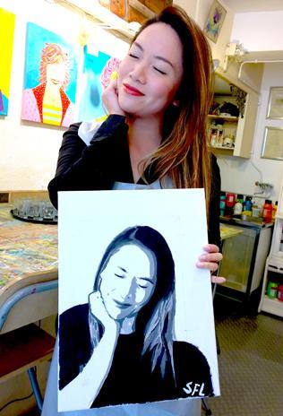 Vrijgezellenfeest Workshop Schaduw Portret Schilderen