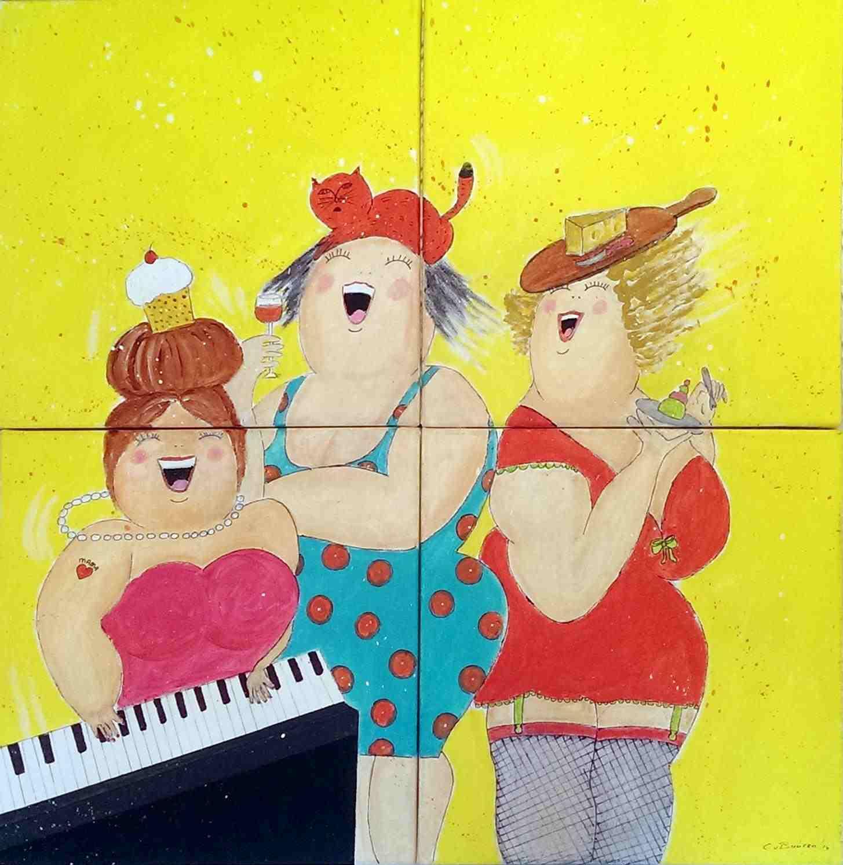 Afbeelding dikke dames schilderen for Dikke dames schilderen